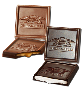 un-wrapped Ghirardelli gourmet chocolates