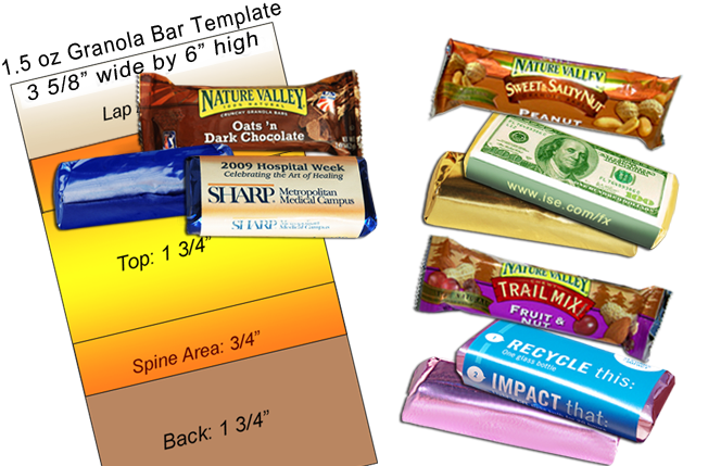 custom foiled and wrapped Granola Bars