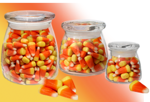 Candy Corn container choices