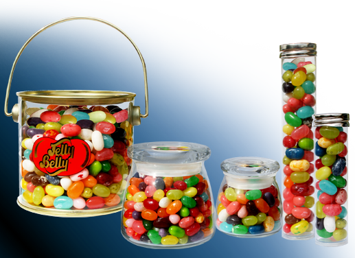 Gourmet jellybeans container choices