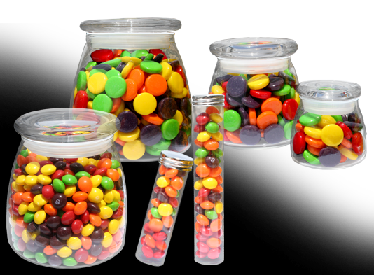 Skittles and Spree Candy and Container Choices