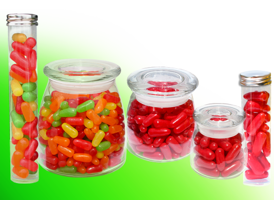 Soft Jelly Candies and container choices