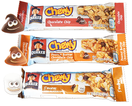 3 Flavors of Quaker Chewy Bars
