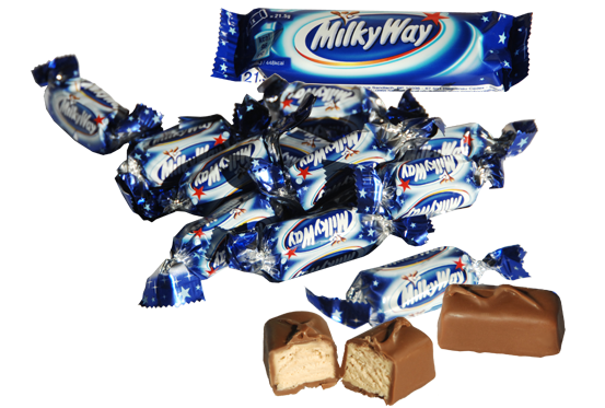 small imported Milky Ways