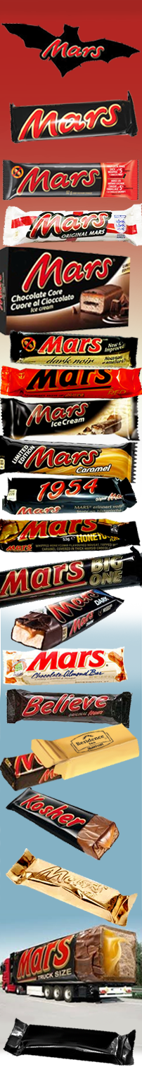 the many faces of Mars Bars