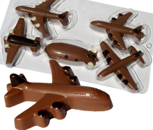 moulded chocolate shapes