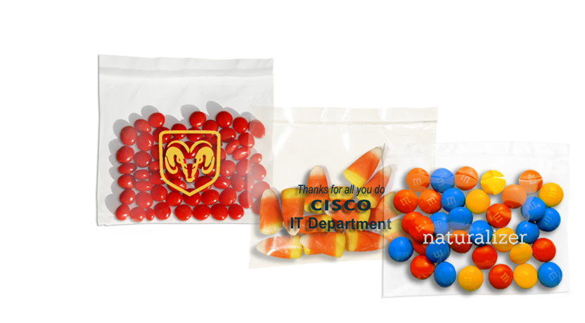 custom imprinted one ounce bags filled with bulk candy