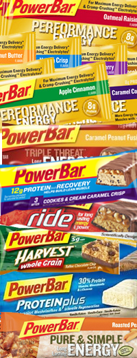 Tasty Variety of Powerbar Products