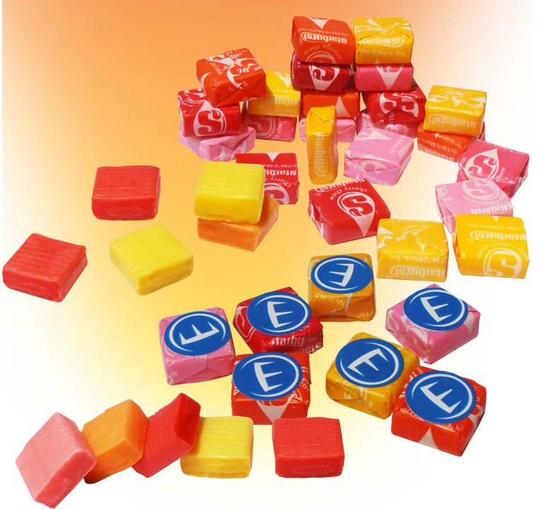 custom wrapped Starburst candies