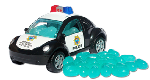 jellybean-filled emergency vehicle toy cars