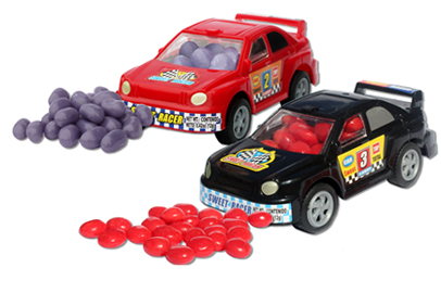 candy-filled racecars