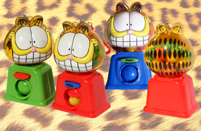 candy-dispensing Garfield toy