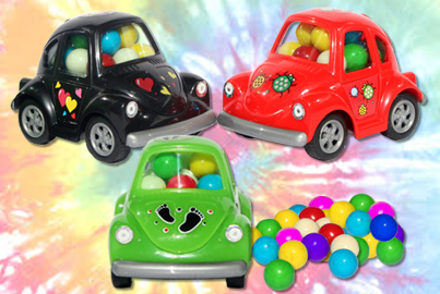 candy-filled VW bugs