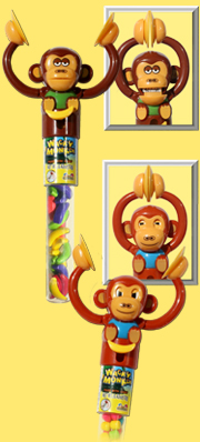 candy filled clapping monkeys