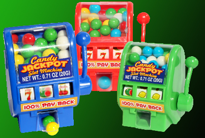 candy-filled mini slot machines