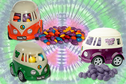 candy-filled VW bus
