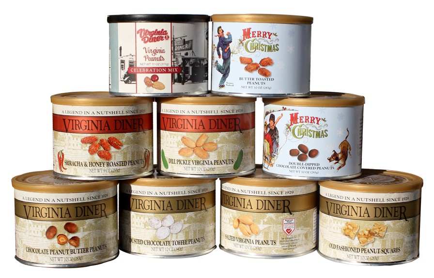 picturesque cans of roasted nuts